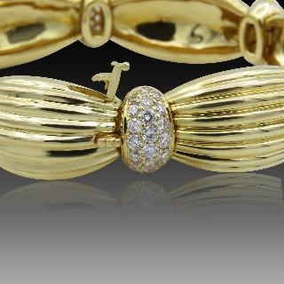 Bague amovible en Or Jaune 18K avec 2,64 Cts de diamants brillants G-VS. Taille 54-55