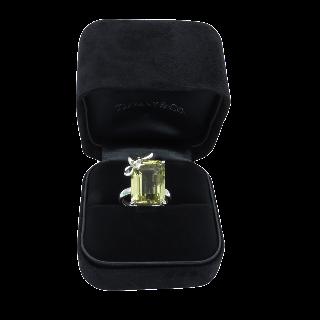Montre dame Art déco en platine avec diamants taille 8/8 et roses Mécanique