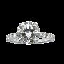 Solitaire Diamant brillant 1.66 Cts F-VS2 en Or gris 18 Cts