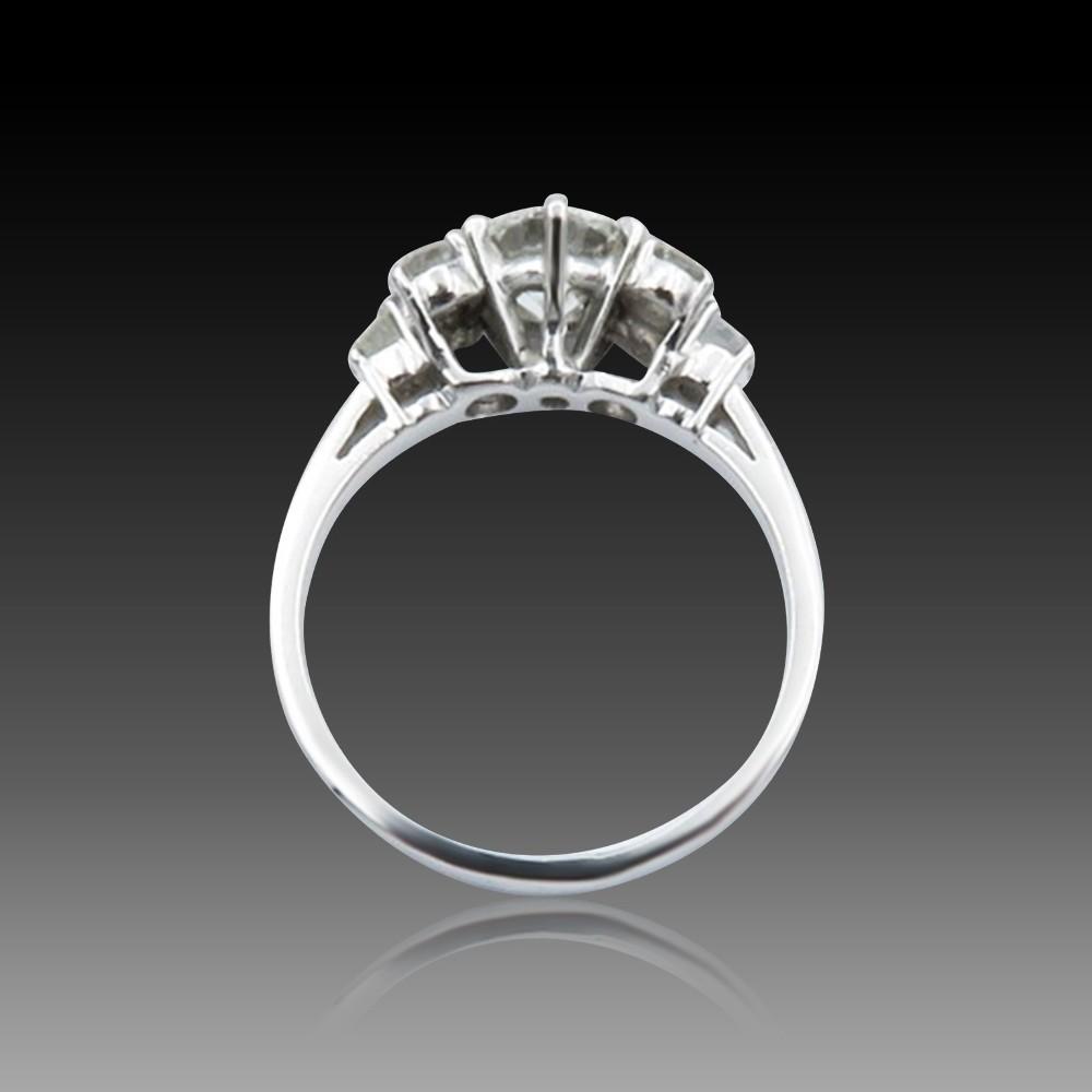 """Bague Chaumet """"Jeux de Liens"""" or gris 18k diamants de 2018. Taille 58 . Full set."""