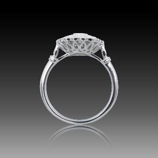 Solitaire en Or gris 18 Cts avec Diamant brillant 1.00 Cts G-VVS2 + 0.27 Cts.
