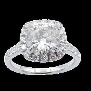 Puces d'oreilles Or gris 18k avec Diamants brillants 1.05 Cts et 1.04 Cts. F-VVS1-G-VVS2