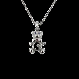 Solitaire en Or gris 18 Cts avec Diamant brillant 0.66 Cts K-VS1 + 0.24 Cts.