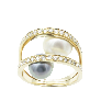 Bracelet souple en or gris 14 carats avec 15,0 Cts de Diamants G-VS.