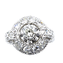 """Bague """"Tête de Bélier"""" LALAOUNIS or jaune 18k saphirs et diamants.Taille 52-53."""