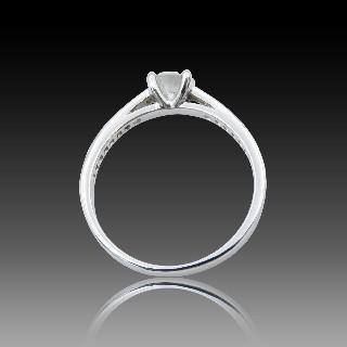 Bague Chopard Happy Diamonds Or Gris 18k Diamants. Taille 53