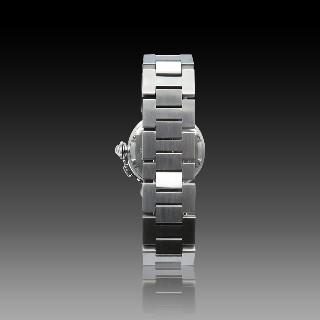 Montre Cartier Pasha C en or 18k et acier 35 mm. Automatique. Vers 2000
