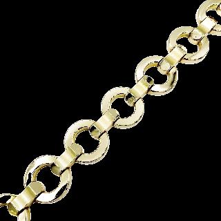 Bracelet Ceinture en or gris 18 Cts massif . Poids : 78.0 Grs