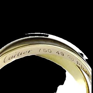 Bague vers 1920 en platine avec verneuil et diamants. taille 50.
