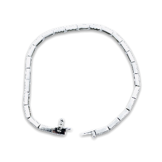 """Bracelet Cartier """"C"""" ligne Diamants brillants 1,63 Cts Or gris 18k de 2014"""
