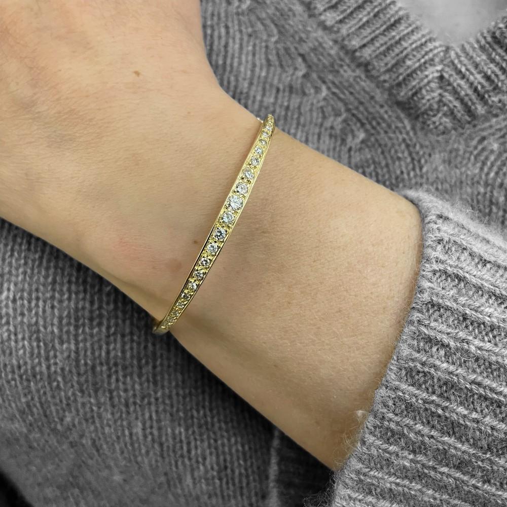 Solitaire Van Cleef & Arpels Diamants Princesse 0,30 Cts en Or 18k Taille 49