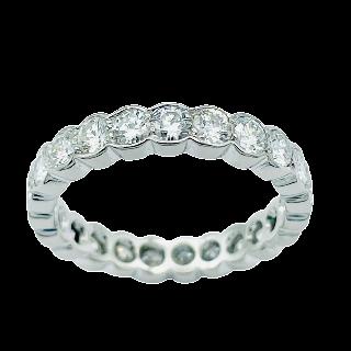 Alliance platine Dubail avec 2.36 Cts de Diamants Brillants G-VS . Taille 52.