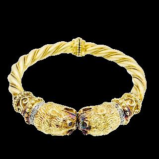 Bracelet Art Déco platine et diamants ronds et baguette avec 8 cts, vers 1925