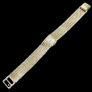Montre dame Vacheron Constantin avec diamants et or blanc 18k  Mécanique