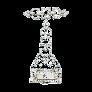 Solitaire Diamant brillant 1.65 Cts G-VS2 en Or gris 18 Cts et Platine