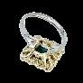 """Bracelet Fred """"matelassé"""" or jaune 18 carats et diamants vers 1980"""