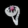Solitaire en Or gris 18 Cts avec Diamant brillant 0.93 Cts H-VS1 + 0.27 Cts.