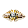 Solitaire Diamant brillant 0.51 Cts G-P1 en Or 18 Cts + 0.30 Cts.