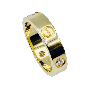 Bague style Art Déco en or gris 18K avec diamant central 0.50 ct. Taille 53