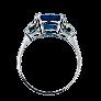 Solitaire en Platine avec Diamant Brillant de 2.13 Cts G-VS1 (HRD) + 2 tapers.