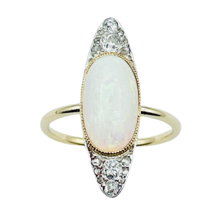 Solitaire en Or rose 18 Cts avec Diamant brillant 1.26 Cts J-SI1 + 0.35 Cts.