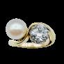Boucles d'oreilles Dormeuses en or gris 18k et Platine vers 1960 avec Diamants 1,90 Cts