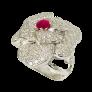 Boucles d'oreilles Bulgari Or rose 18k Diamants et Jades vers 2017