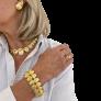 Bracelet Cartier Vintage en Or Jaune 18k de 1995. 56,90 gr. 20 cm