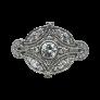 """Solitaire Garel """"ENVOL"""" Or gris  18k et Diamant 0,35 Cts. Taille 49."""