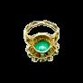 """Bague """"Tank"""" 1940 or jaune 18 k et platine avec diamants et verneuils"""