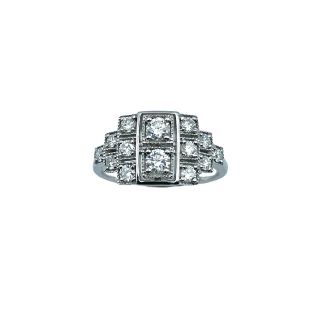 Solitaire Diamant brillant 1.00 Cts J-SI2 en Or 18 Cts + 0.17 Cts.
