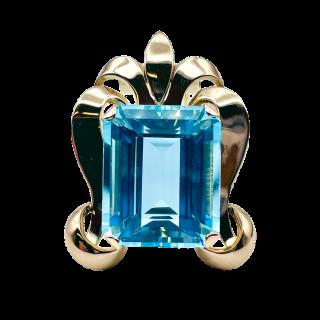 Bague Solitaire style Art Déco Diamant de 2.05 cts Cts H-VVS2 Or 18k.