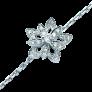 Bracelet ligne en or gris 18k avec 6,50 Cts de Diamants brillants extrablancs.