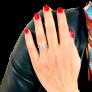 Bague style Art Déco en Or 18k avec 0.66 Cts de Diamants G-VS
