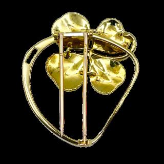 Bague en or gris 18k et platine  avec une Rubelite et diamants