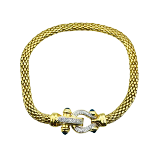 Bague Jonc Or jaune 18K avec diamant de 1,20 Cts F-SI1 signé Yves GRATAS