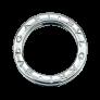 Bague Dinh Van Menottes R8  petit modèle Or Gris 18 k et diamants .  Taille 51