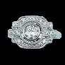 Solitaire en Or gris 18 Cts avec Diamant brillant 1.06 Cts I-VS1 + saphirs et diamants