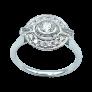 """Pendentif """"Cible"""" grand modèle signé DINH VAN en or jaune18 carats avec diamants"""