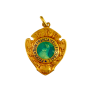 Bague Or 18k et Argent vers 1920 avec Saphir et diamants . Taille 53-54