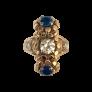 """Pendentif """"Cible"""" grand modèle signé DINH VAN en or gris 18 K avec diamants"""