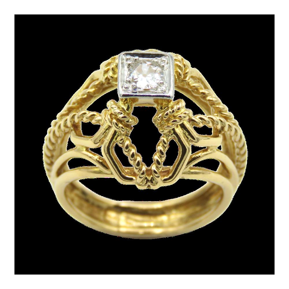 """Montre Cartier dame """"Panthère Vendome """" Or jaune 18k & Acier quartz Vers 1995."""