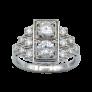 Bague vintage vers 1950 en Or 18K et Platine avec 1,50 Cts de Diamants