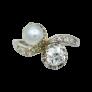 Broche vers 1890 en or 18K avec camée Agate et rose de diamants .