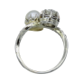 Bague vers 1890 en or 14K avec camée Agate et rose de diamants .Taille 55