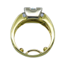 Solitaire en or 18k Diamant brillant de 3.70 Cts J-VS2 .