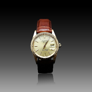 "Montre Cartier Dame ""Santos Vendome"" Or Jaune 18k Quartz de 1983"