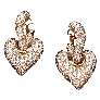 Puces d'oreilles Or gris 18k avec 2 Diamants brillants 0.48 Cts et 0.46Cts. D-E et VVS2/SI1