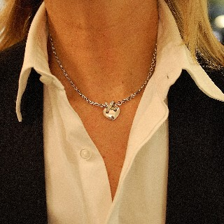 """Bague Garel """"Captive"""" Or rose 18k et Diamants. Taille 51"""