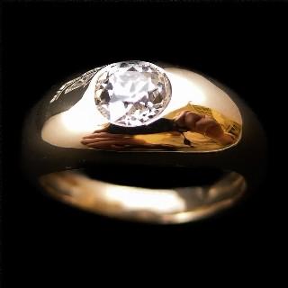Bague Or Gris 18k avec 1.50 Cts de Diamants H-VS. Taille 52.